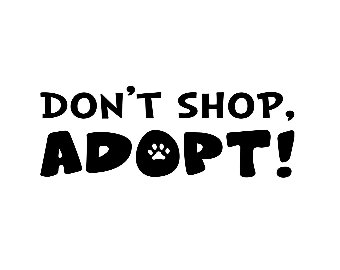 Items similar to Don't Shop. ADOPT. paw print animal