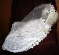 Dog Wedding Dress Costume Cute Girly Fur Babies - Myshelle.com