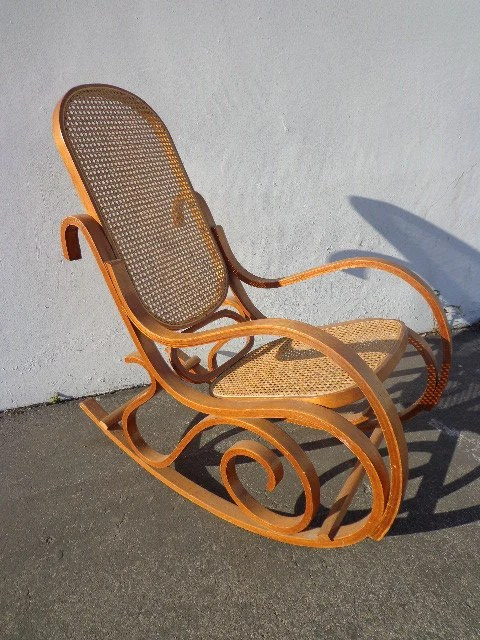 Thonet Style Bentwood Inspired Rocker Armchair Rocking Chair