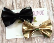 items similar faux leather bow
