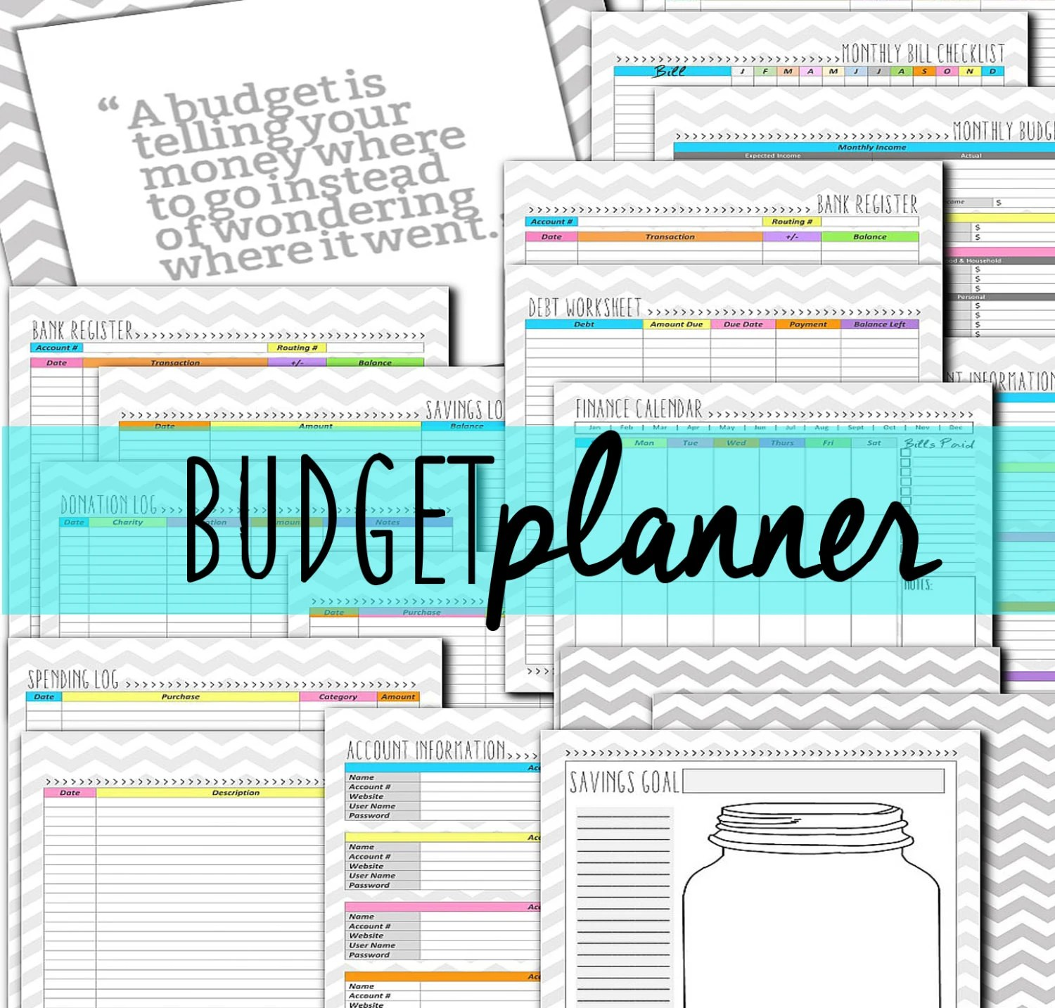 Budget Financial Planner Diy Budget Family Planning Life