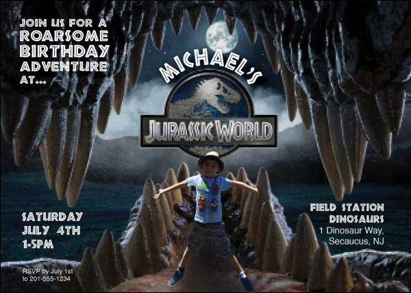 Jurassic World Birthday Party Invitations Free