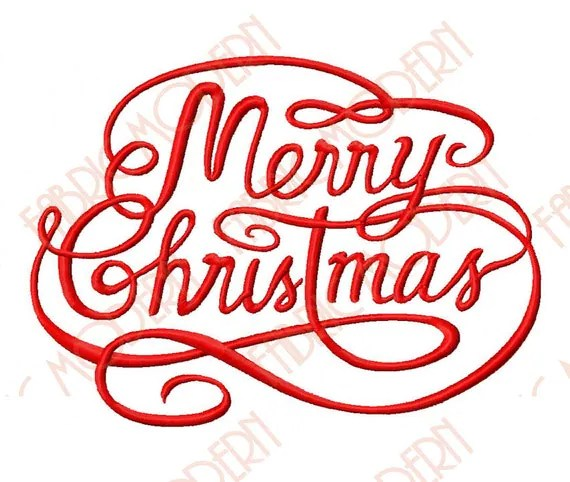 merry christmas machine embroidery