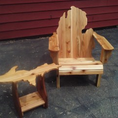 Michigan Adirondack Chair Purple Covers For Sale And Upper Peninsula Table