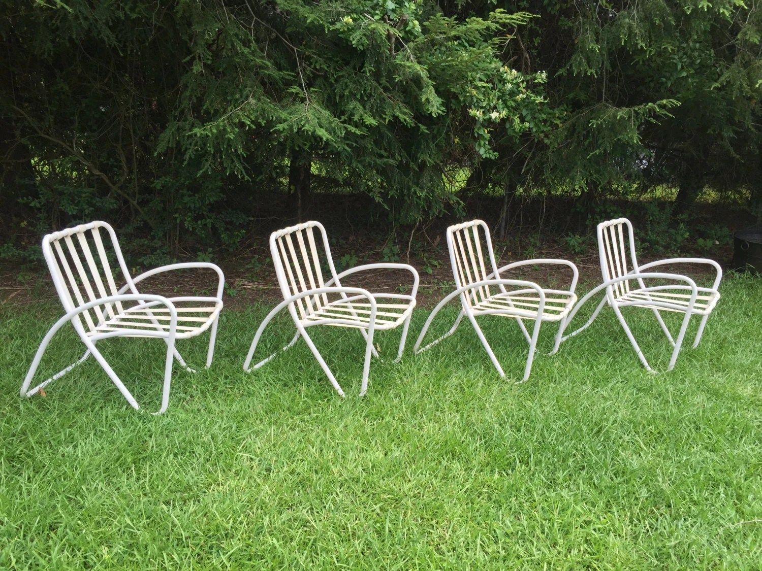 Mid Century Patio Chairs Vintage Mid Century Modern Brown Jordan Set Of 4 Patio Chairs