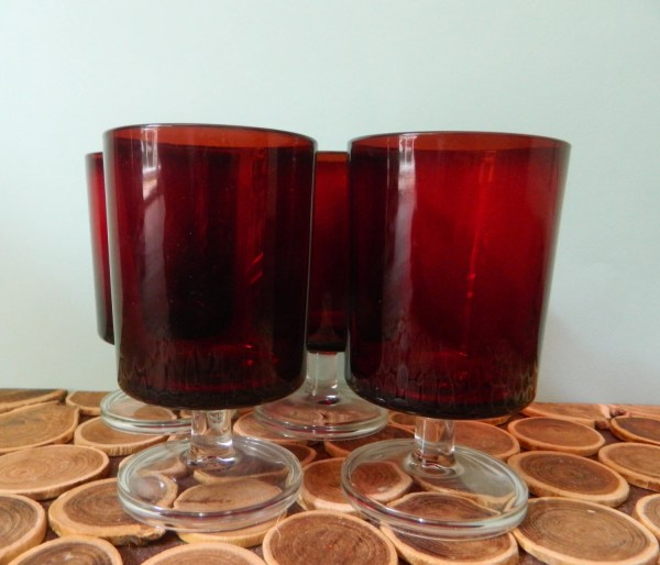 Luminarc Cavalier Water Glasses Ruby Red