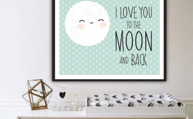 I Love You To The Moon And Back Wall Art Modern By