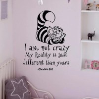 Alice In Wonderland Wall Decals Quotes Cheshire by ...