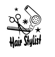 hair stylist with scissors comb