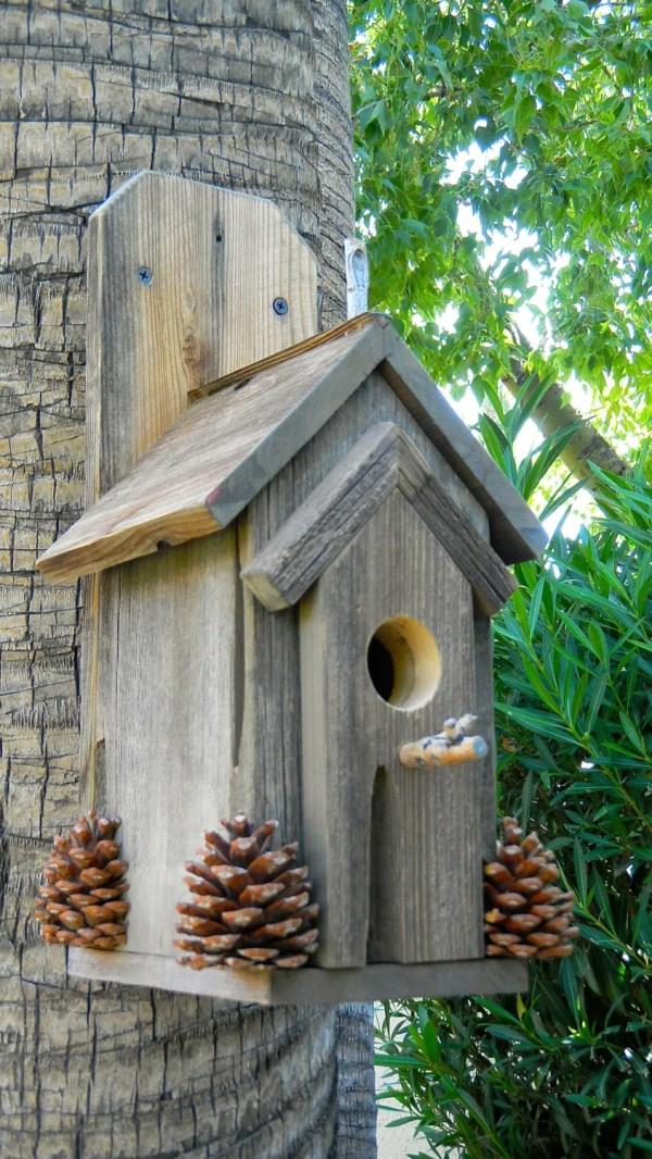 Rustic Outdoor Bird House 370