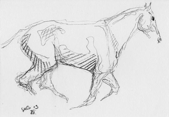 Original Sketch 260 of a Race Horse