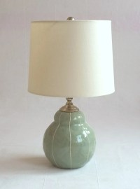 Bedside lamp. Small ceramic table lamp. Modern style office