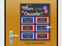 guidance counselor door decoration