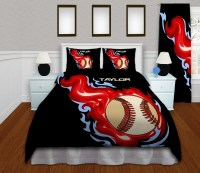 Baseball Themed Bedding Set Baseball Comforter for Boys