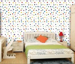 wall colorful modern polka children dots decors