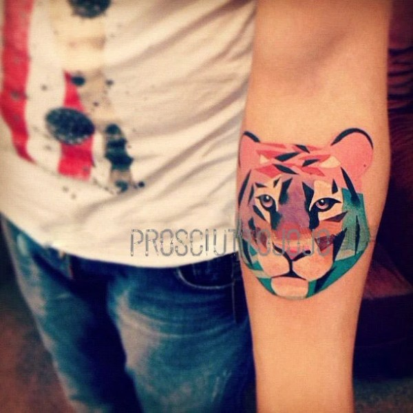 temporary tattoo large big colorful