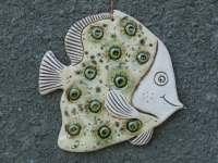 Fish Ceramic fish Fish tile Funny fish Ceramic tile green