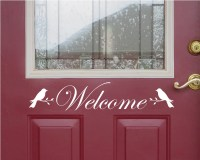 Front Door Welcome Sign Front Door Decor Welcome Sign Bird