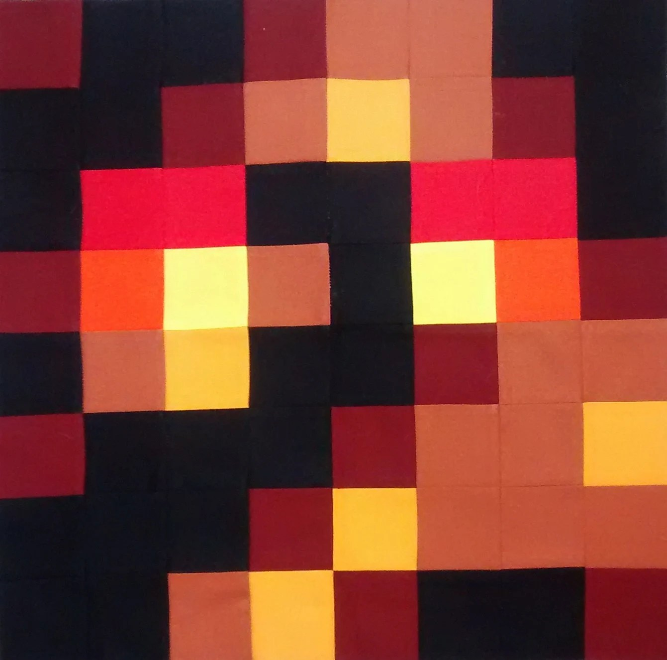 Minecraft inspired Magma Cube Pillow