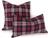 Plaid Lumbar Pillows Red Blue Plaid Pillow Covers Rustic