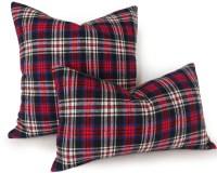 Plaid Lumbar Pillows Red Blue Plaid Pillow Covers Rustic
