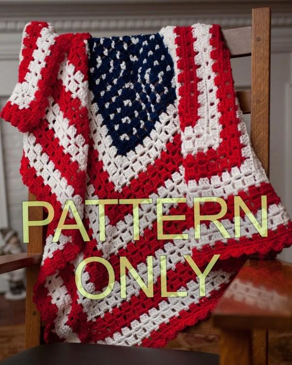 Pattern American Patriotic Flag Baby Blanket Throw