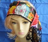 hippie head scarves colorful boho head scarf bohemian head ...