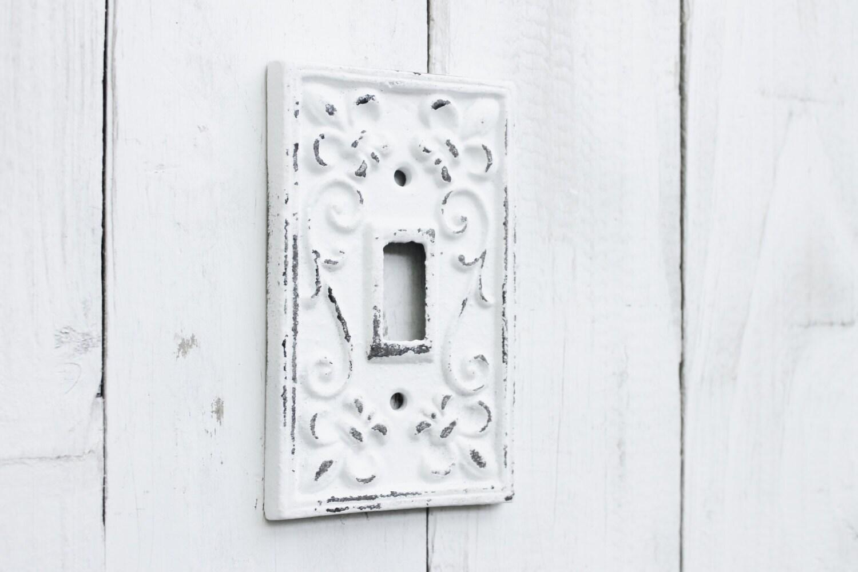 Metal Wall Decor Light Switch Plate Cast Iron Fleur De