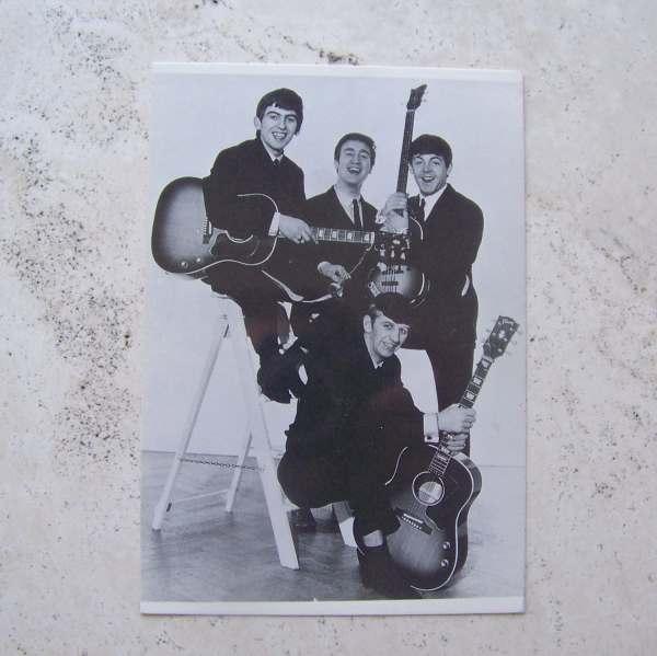 Vintage Beatles Postcard Rock Group