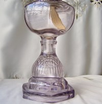 Antique Oil Lamp Purple Glass Table Lamp Berry by