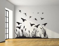 Landing Mallard Wall Decal Silhouettes Mallard Ducks living