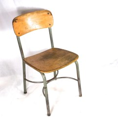 Steel Chair Size Striped Accent Chairs Vintage Wood School Metal Adult 16 5