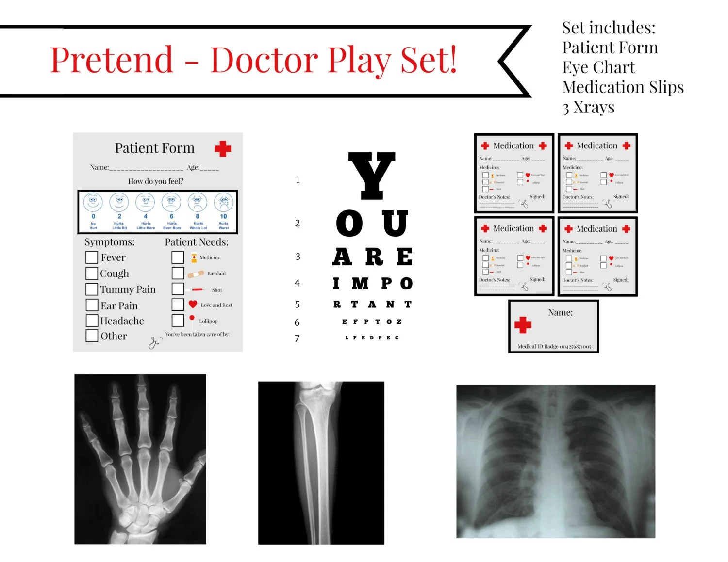 Instant Download Dramatic Pretend Play Doctor Physician