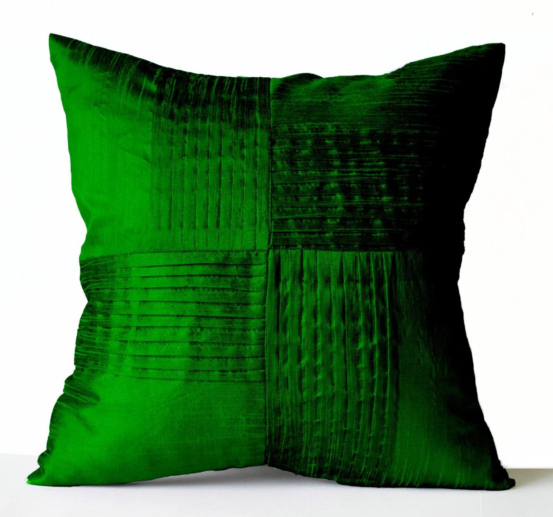 emerald green sofa covers alexis ashley manor throw pillow cover silk decorative case