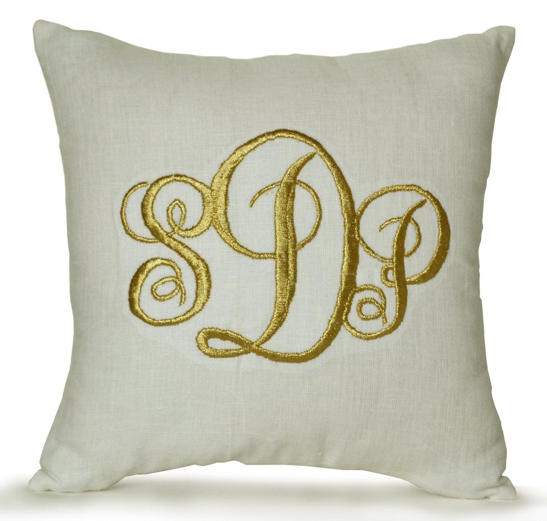 dorm chair covers etsy full tilt first ski boots monogrammed linen pillow cover monogram decor