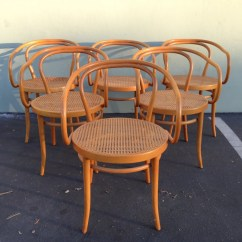 Bent Wood Chair World Market 6 Stendig Thonet Bentwood Chairs No B9 Dining Cane