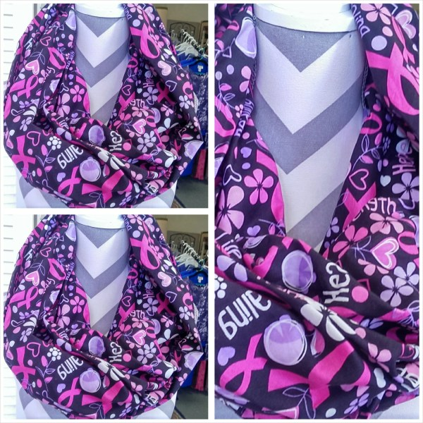 Infinity Scarf Breast Cancer Awareness Pink Ribbons