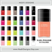 nail polish clipart rainbow color