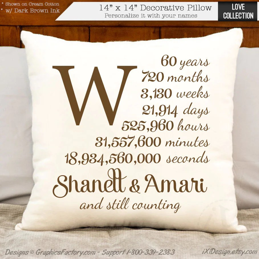 60th anniversary cotton gift personalized anniversary gift