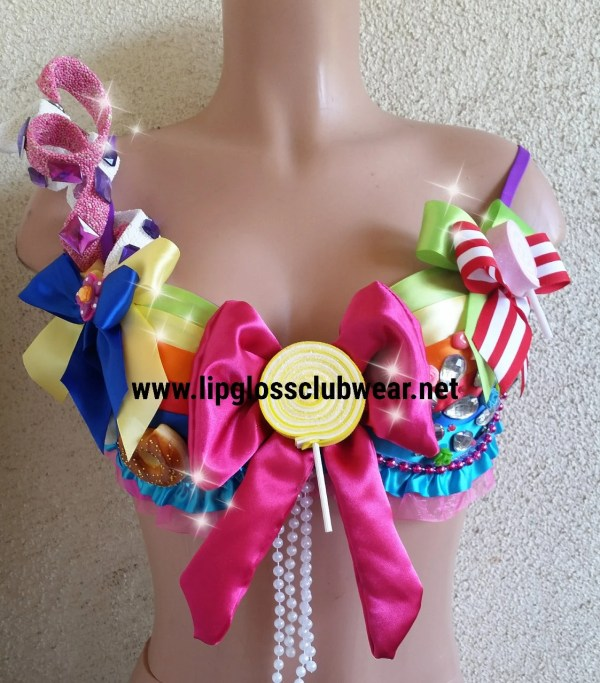 Willy Wonka Candyland Inspired Bra Top Rave Wear Theme