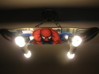 Custom Hanging Spiderman Skateboard Light by LightingCrafters