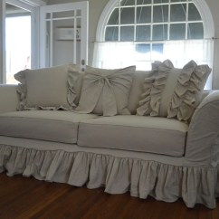 Custom Made Sofas Orange County Ca Twin Sleeper Sofa Leather Drop Cloth Slipcover Tailor To Fit Your