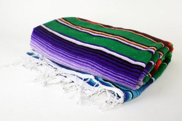 Mexican Serape Saltillo Blanket Throw