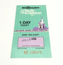 Walt Disney World Magic Kingdom 1 Day Adult Ticket Retrocot