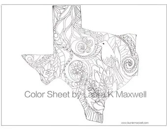 Oregon Coloring Sheet for Adults and Kids 11x8.5 / Oregon