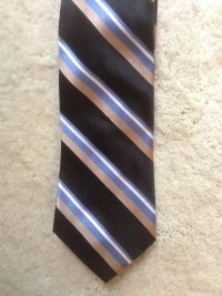 Striped Tommy Hilfiger Mens Necktie / Silk Designer Mens Tie