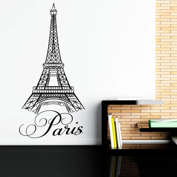 Paris Wall Decals Vinyl Stickers Letters Art