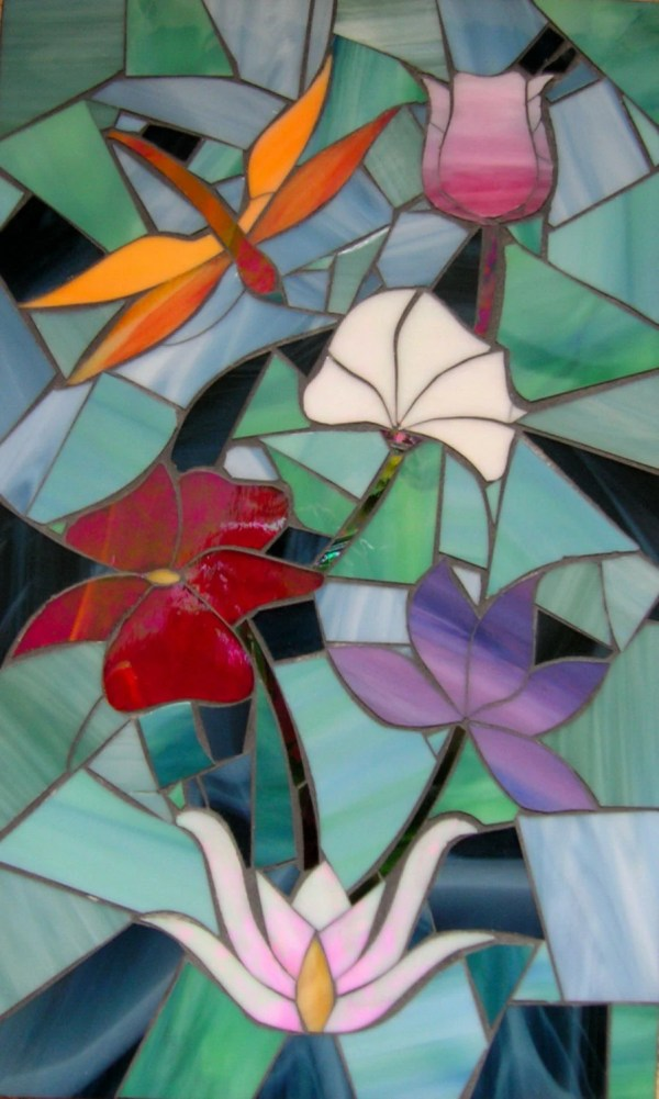 Dragonfly Mosaic Stained Glass