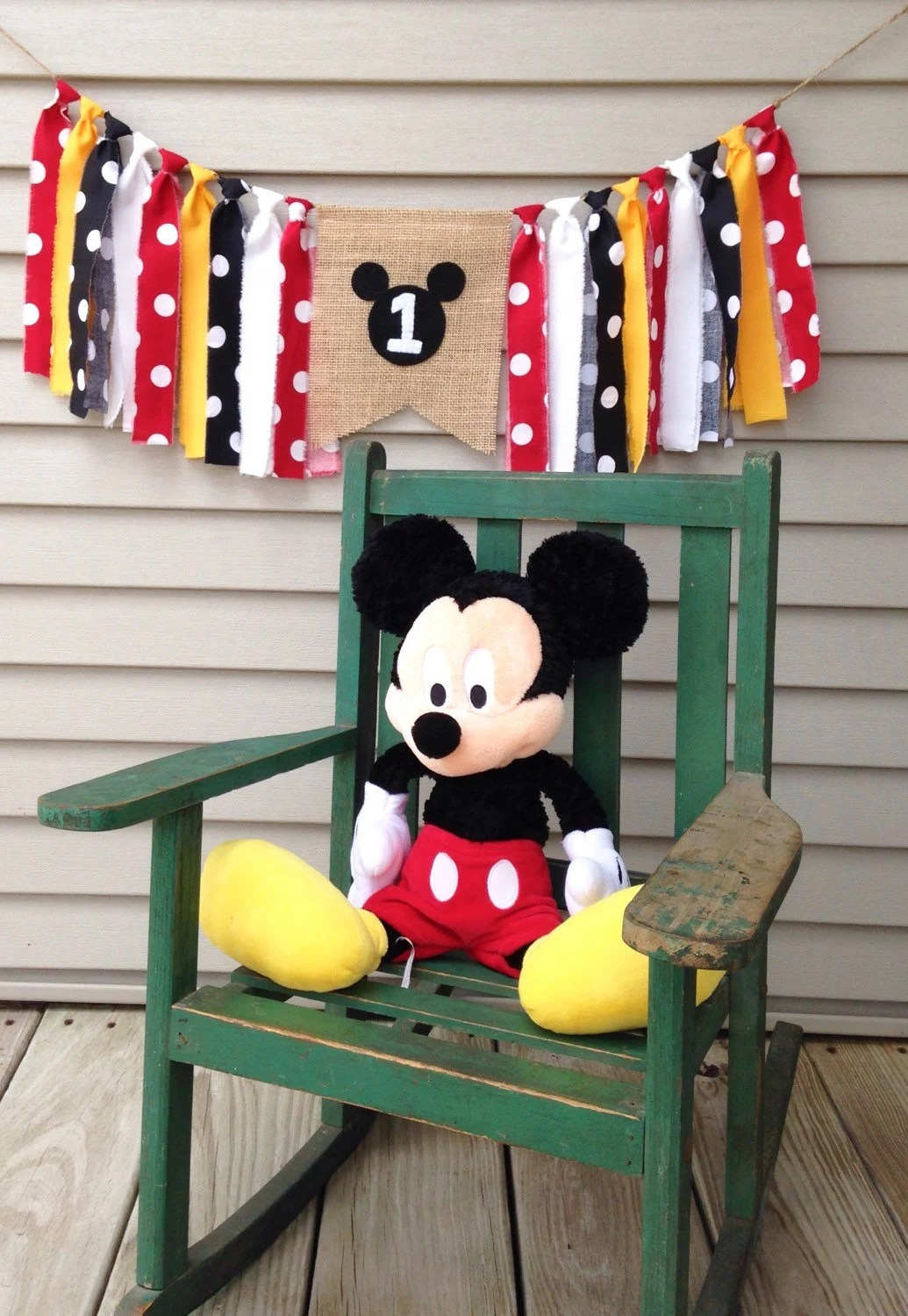 mickey mouse high chair decorations stacking patio covers birthday banner theme