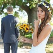 bridal flower crown sunflowers